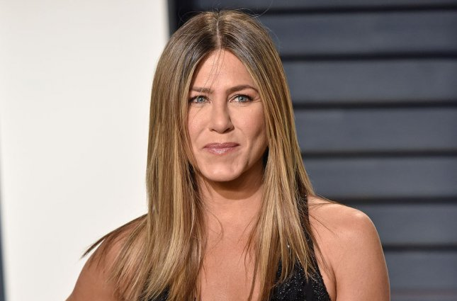 Jennifer Aniston attends the Vanity Fair Oscar party on February 26. File Photo by Christine Chew/UPI
