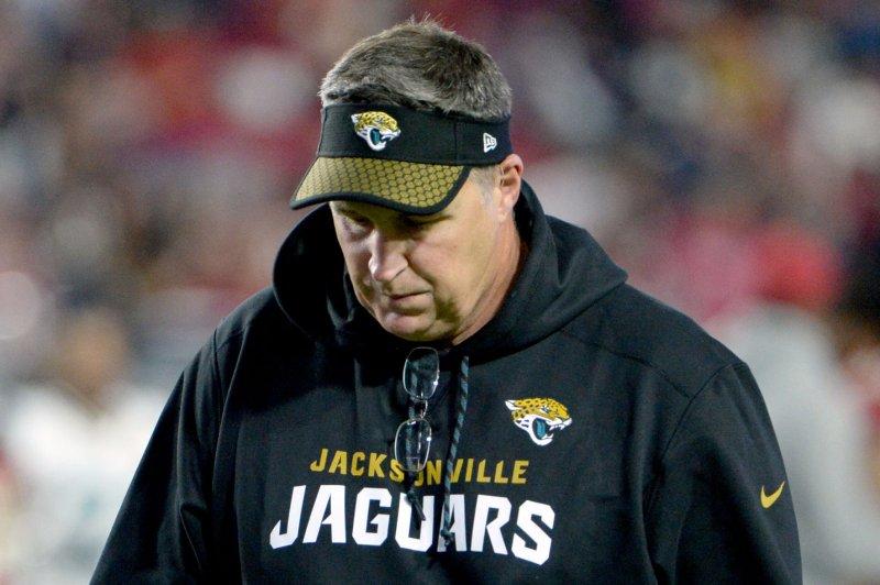 .Jacksonville Jaguars head coach Doug Marrone helped lead the team to the AFC Championship last season. Photo by Art Foxall/UPI