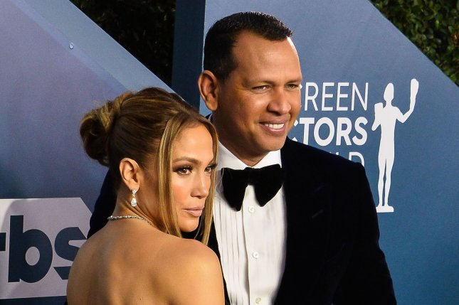 Jennifer Lopez (L), voiced her love for Alex Rodriguez on his birthday, days after the couple celebrated Lopez's own birthday. File Photo by Jim Ruymen/UPI