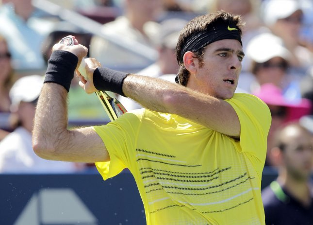Juan Martin del Potro, shown in a 2011 file photo, lost only one game in a second-round match Thursday in Portugal. UPI/John Angelillo