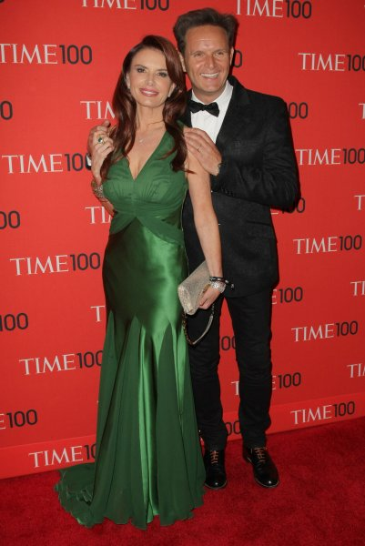 Roma Downey and Mark Burnett arrive at the TIME 100 Gala at Jazz at Lincoln Center on April 23, 2013 in New York City. UPI/Monika Graff