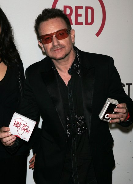 The album, due out June 14, will feature 14 songs co-written by U2's Bono (pictured) and The Edge. UPI /Laura Cavanaugh