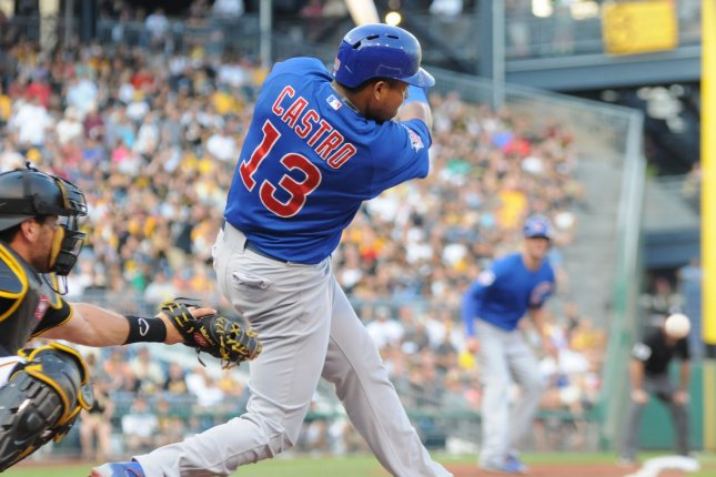 Chicago Cubs shortstop Starlin Castro (13). Photo by Archie Carpenter/UPI