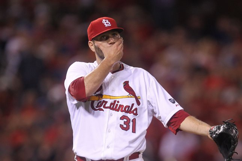 St. Louis Cardinals starting pitcher Lance Lynn. Photo by Bill Greenblatt/UPI