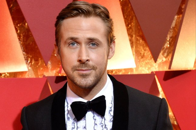 Ryan Gosling arrives on the red carpet for the 89th annual Academy Awards on February 26. Gosling and his co-star Harrison Ford are featured in new posters for Blade Runner 2049. File Photo by Jim Ruymen/UPI