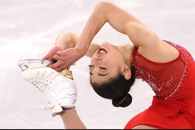 Mirai Nagasu of Team USA performs at the 2018 Winter Games in Gangneung, South Korea, on February 23. File Photo by Kevin Dietsch/UPI
