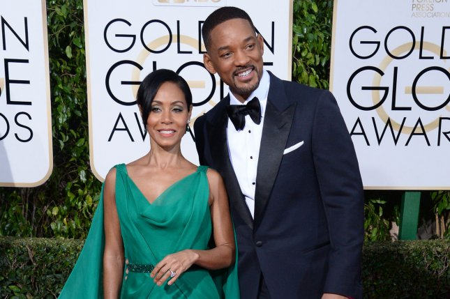 Will Smith (R) with his wife Jada Pinkett Smith. Will talks about his relationship with Jada on Tidal's Rap Radar podcast. File Photo by Jim Ruymen/UPI