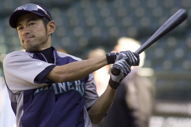 Seattle Mariners right fielder Ichiro Suzuki got a hero's welcome in the MLB opener Wednesday at the Tokyo Dome in Japan as his native country welcomed him back home. The legendary hitter went 0-for-1 with a walk. File Photo by Jim Bryant/UPI