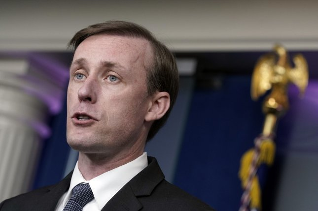 National security adviser Jake Sullivan said Sunday that further sanctions targeting Russia over its poisoning of opposition leader Alexei Navalny were coming. Photo by Yuri Gripas/UPI