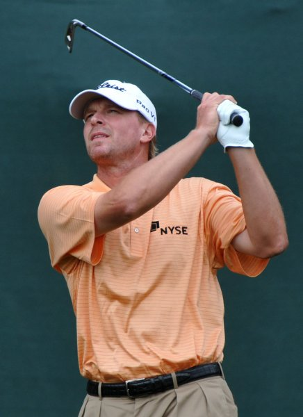 Steve Stricker, pictured at the U.S. Open, June 21, 2009. Stricker Monday birdied the final two holes to win the PGA Deutsche Bank Championship in Massachusetts. (UPI Photo/Kevin Dietsch)