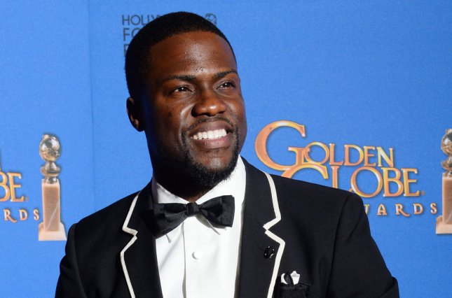 Actor and comedian Kevin Hart is to be an Oscar presenter. He is seen here at the 72nd annual Golden Globe Awards Jan. 11, 2015. Photo by Jim Ruymen/UPI