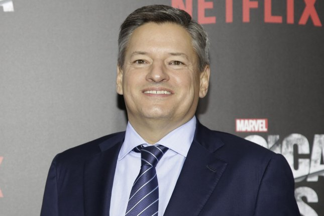 Netflix Chief Content Officer Ted Sarandos arrives on the red carpet at the New York premiere of the series Marvel's Jessica Jones on November 17, 2015. File Photo by John Angelillo/UPI