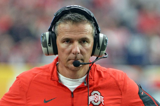 Ohio State head coach Urban Meyer. Photo by Art Foxall/UPI