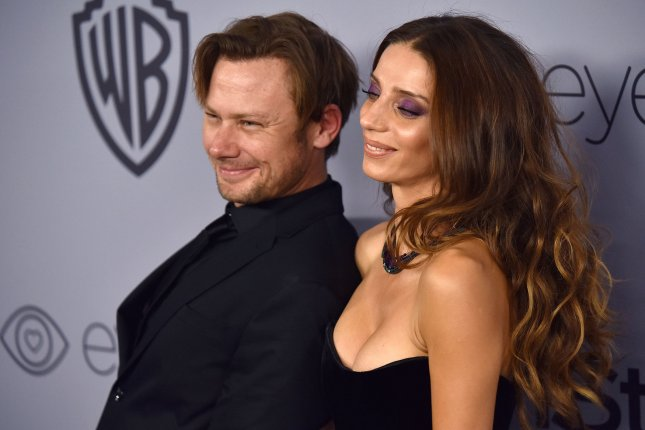 Jimmi Simpson (L), pictured with Angela Sarafyan, will appear in the new season of Westworld. File Photo by Christine Chew/UPI