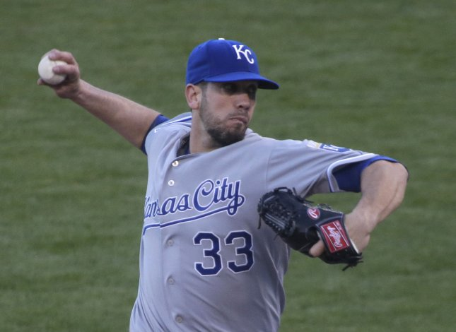 Ex-Kansas City Roylas pitcher James Shields will take the mound against his former team for the Chicago White Sox. File photo by Bruce Gordon/UPI