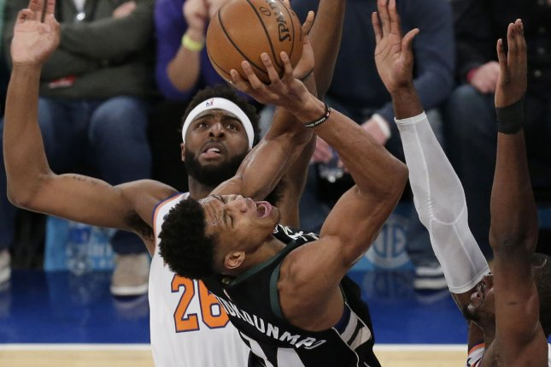 Giannis Antetokounmpo and the Milwaukee Bucks face the Toronto Raptors on Sunday. Photo by John Angelillo/UPI