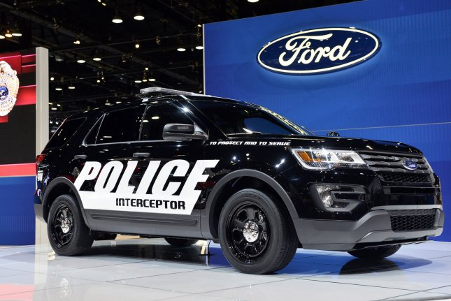 Ford said it will make the software available for all its Police Interceptor SUVs in the United States and Canada. File Photo by Brian Kersey/UPI