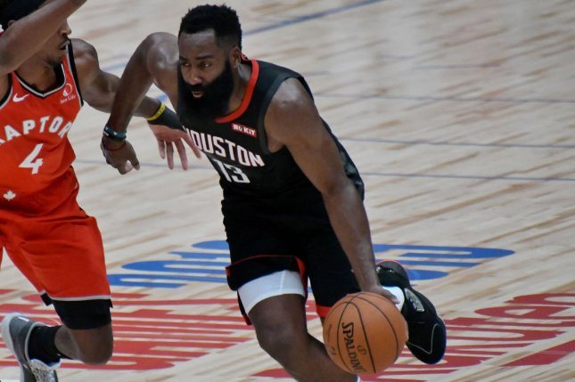 Houston Rockets guard James Harden said his team just wasn't good enough to keep up with the Los Angeles Lakers on Tuesday in Houston. File Photo by Keizo Mori/UPI