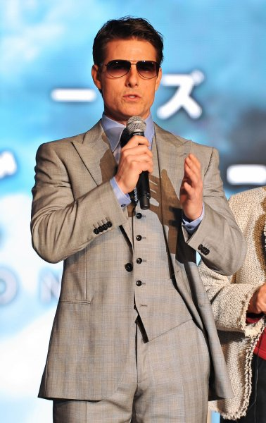 Actor Tom Cruise attends the Japan premiere for the film Oblivion in Tokyo, Japan, on May 8, 2013. The film will open on May 31 in Japan. UPI/Keizo Mori