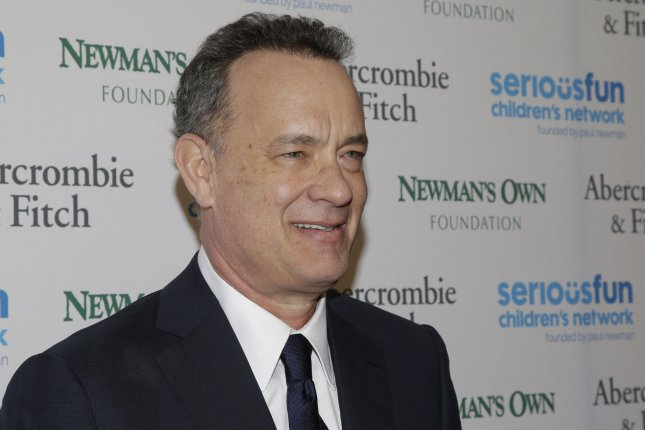 Tom Hanks arrives at An Evening of SeriousFun Celebrating the Legacy of Paul Newman in New York City on March 2, 2015. File Photo by John Angelillo/UPI