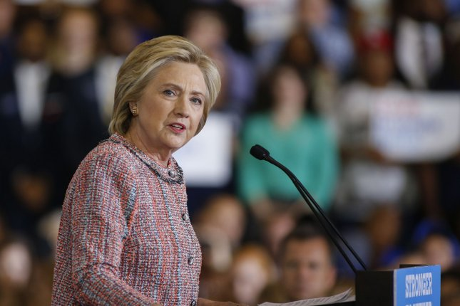 Democratic presidential nominee Hillary Clinton unveiled a new attack ad on Friday, going after Donald Trump for demeaning comments he's made about women. The ad features Trump in his own words over clips of young girls evaluating themselves in the mirror. Photo by Nell Redmond/UPI.