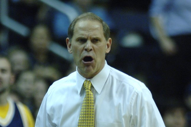 The Michigan Wolverines and head basketball coach John Beilein upset No. 1 seed Purdue in the quarterfinals of the Big Ten Conference tournament. File Photo Kevin Dietsch/UPI