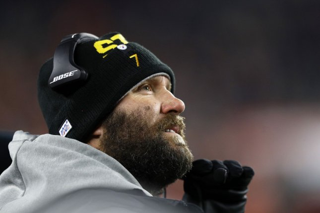 Pittsburgh Steelers quarterback Ben Roethlisberger previously said he wasn't going to shave his beard or cut his hair until he could throw an NFL pass to teammates. File Photo by Aaron Josefczyk/UPI