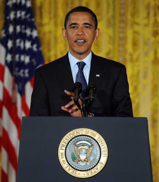 U.S. President Barack Obama delivers remarks on securing the cyber infrastructure of the U.S. in the East Room of the White House on May 29, 2009. (UPI Photo/Roger L. Wollenberg)