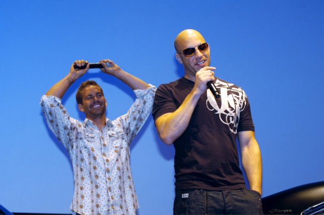 Actor Paul Walker (L) and Vin Diesel (R), attend a Japan premiere of the film Fast & Furious in Tokyo, Japan, on September 30, 2009. UPI/Keizo Mori
