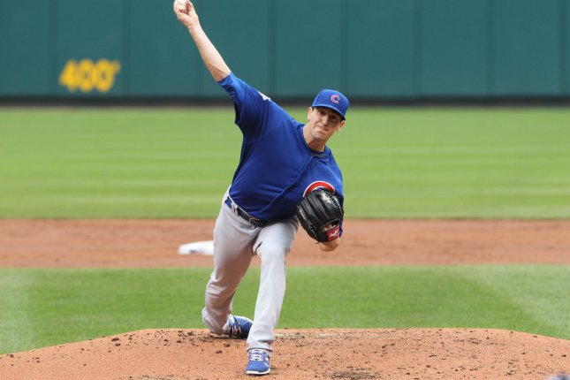 Chicago Cubs starting pitcher Kyle Hendricks. Photo by Bill Greenblatt/UPI