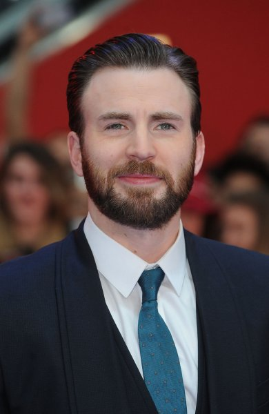 Chris Evans attends the U.K. premiere of Captain America: Civil War at Westfield in London on April 26, 2016. The actor posted a video to Twitter on Monday of his submission for The 22 Push-up Challenge. File Photo by Paul Treadway/ UPI