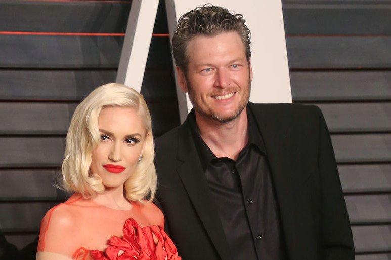 Gwen Stefani (L) and Blake Shelton at the Vanity Fair Oscar party on February 28, 2016. File Photo by David Silpa/UPI