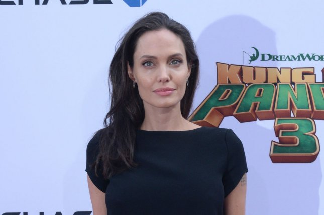 Angelina Jolie attends the Los Angeles premiere of Kung Fu Panda 3 on January 16, 2016. The actress agreed to serve as the face of Mon Guerlain to honor late mom Marcheline Bertrand. File Photo by Jim Ruymen/UPI