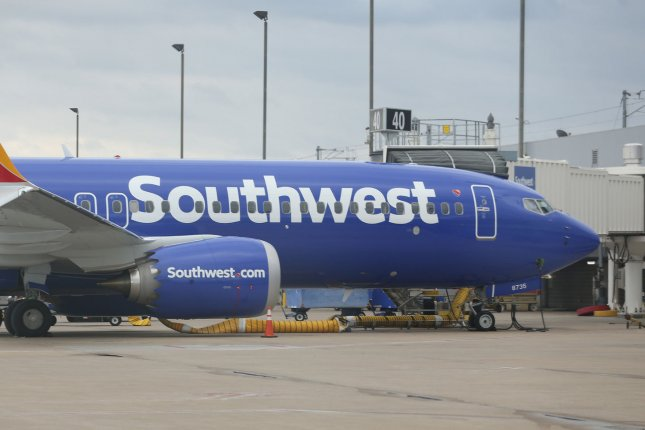 Southwest Airlines said it has canceled planned flights using the grounded Boeing 737 Max until June 6. File photo by Bill Greenblatt/UPI