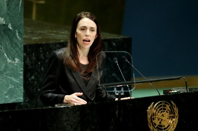 New Zealand Prime Minister Jacinda Ardern speaks at the United Nations General Assembly in New York City in 2019. File Photo by Monika Graff/UPI