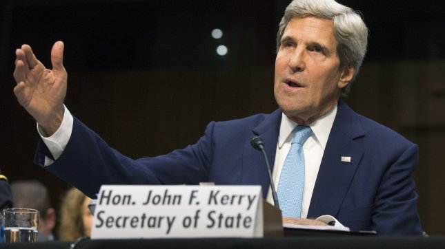 Secretary of State John Kerry testifies during a Senate Foreign Relations Committee hearing on military intervention in Syria, on Capitol Hill in Washington, D.C. on September 3, 2013. UPI/Kevin Dietsch