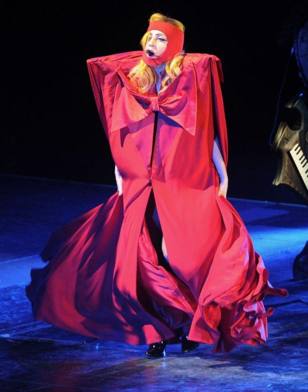 American singer Lady Gaga perfoms at O2 Arena in London Dec. 16, 2010. UPI/Rune Hellestad