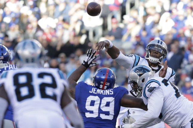 Carolina Panthers  Cam Newton throws a pass in the second quarter against  the New York Giants at MetLife Stadium in East Rutherford 4c7d1fdef