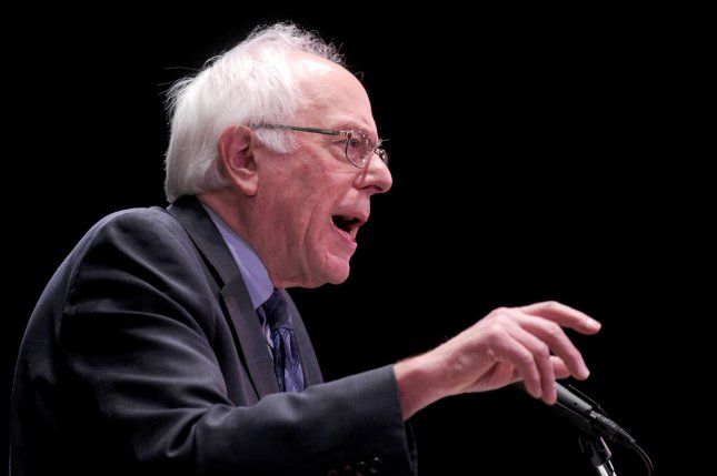 Democratic presidential candidate Bernie Sanders delivers a major policy address on Wall Street reform in New York City on January 5, 2016. Photo by Dennis Van Tine/UPI