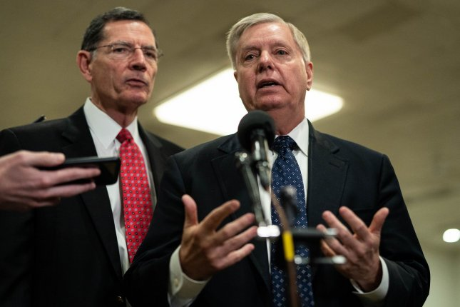 Onetime presidential candidate Lindsey Graham, having called Donald Trump unfit for office, has converted to becoming one of the president's closest allies and apologists. Photo by Ken Cedeno/UPI