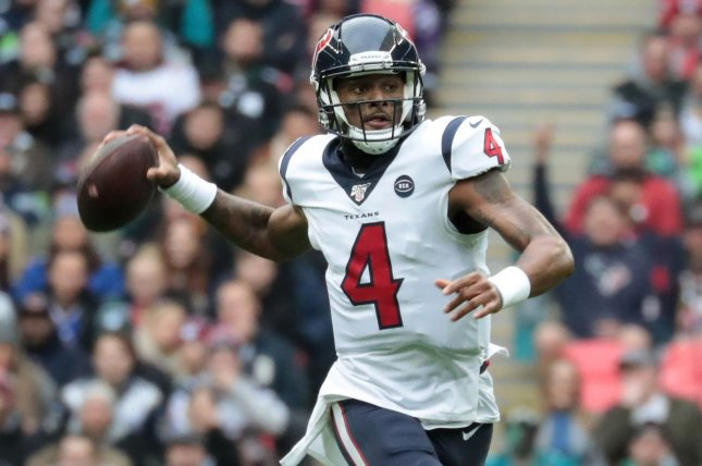 Pro Bowl quarterback Deshaun Watson could play for a different team next season after the veteran requested a trade from the Houston Texans. File Photo by Hugo Philpott/UPI