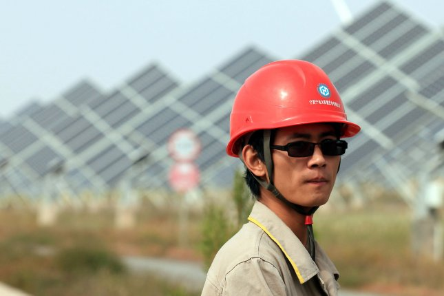 China said allegations regarding Xinjiang are false after U.S. politicians suggested solar panel materials were being produced in the region using forced labor. File Photo by Stephen Shaver/UPI