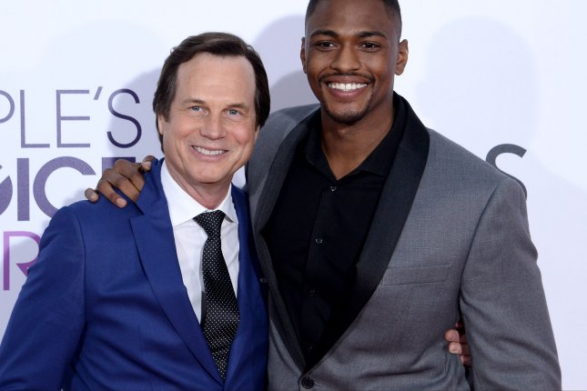 Actors Bill Paxton (L) and Justin Cornwell attend the 43rd annual People's Choice Awards at the Microsoft Theater in Los Angeles on January 18. Paxton died Sunday at the age of 61. Photo by Jim Ruymen/UPI