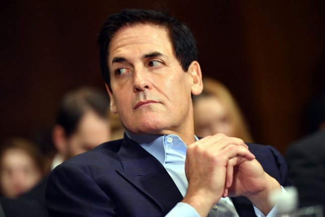 Mark Cuban, chairman of AXS TV and owner of the Dallas Mavericks, listens to testimony during a Senate Judiciary Subcommittee hearing on the AT&T and Time Warner merger, on Capitol Hill, in Washington, D.C. File photo by Kevin Dietsch/UPI