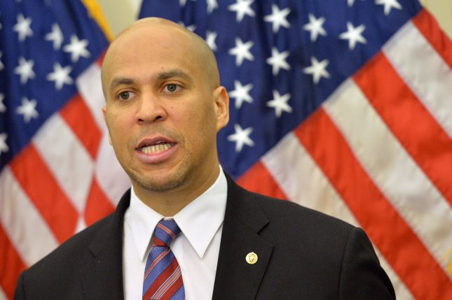 More members of Congress, like Sen. Cory Booker, D-N.J., are turning to live video streaming to offer Americans nationwide unprecedented glimpses of business in Washington. Photo by Kevin Dietsch/UPI