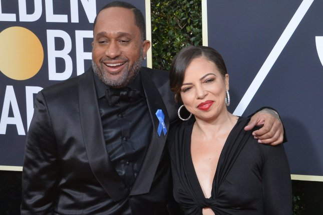 Producer Kenya Barris (L) and his wife Rainbow Edwards-Barris attend the 75th annual Golden Globe Awards in Beverly Hills on January 7. The filmmaker is working with Netflix on new projects. File Photo by Jim Ruymen/UPI