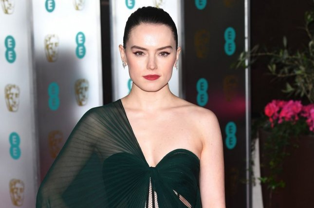Chaos Walking star Daisy Ridley attends the official British Academy Film Awards Party on February 2. Chaos Walking has been pushed back until March 5. File Photo by Rune Hellestad/UPI