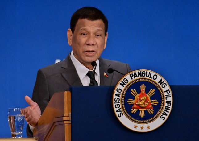 President of the Philippines Rodrigo Duterte has been accused of sanctioning the killing of thousands in his so-called war on drugs. File photo by Keizo Mori/UPI