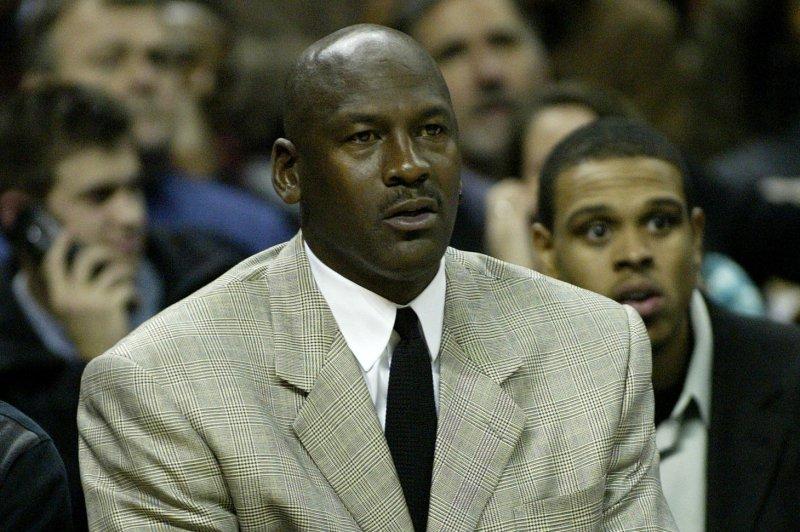 Michael Jordan's Charlotte Hornets travel to Portland to play the Trail Blazers. (UPI Photo/Nell Redmond)
