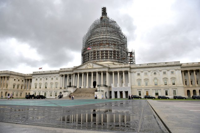 The U.S. Capitol Building is seen in Washington, D.C. on September 30, 2015. The Senate approved a temporary spending bill 78-20, that will fund the government until late December. The House is expected to pass the bill later tonight and send it to President Obama's desk. Photo by Kevin Dietsch/UPI